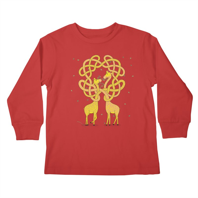 When Giraffes Fight Kids Longsleeve T-Shirt by cumulo7's Artist Shop