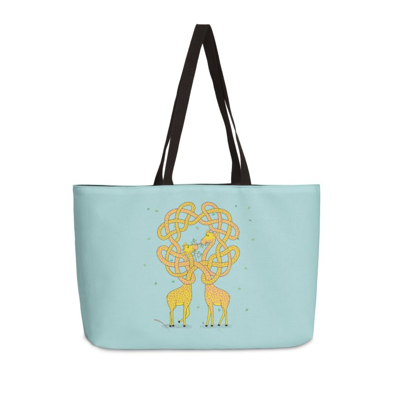 When Giraffes Fight Accessories Weekender Bag Bag by Cumulo 7
