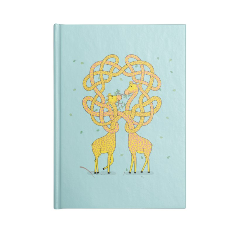 When Giraffes Fight Accessories Lined Journal Notebook by Cumulo 7