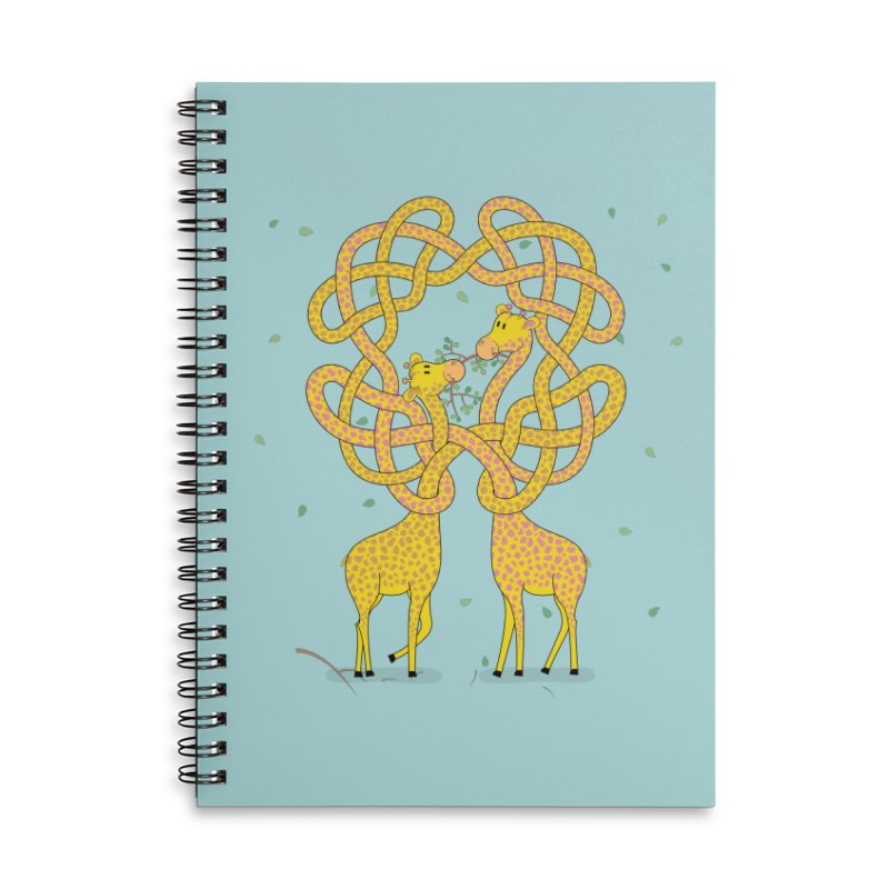 When Giraffes Fight Accessories Lined Spiral Notebook by Cumulo 7