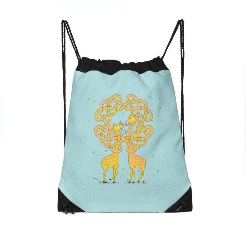 When Giraffes Fight Accessories Drawstring Bag Bag by Cumulo 7