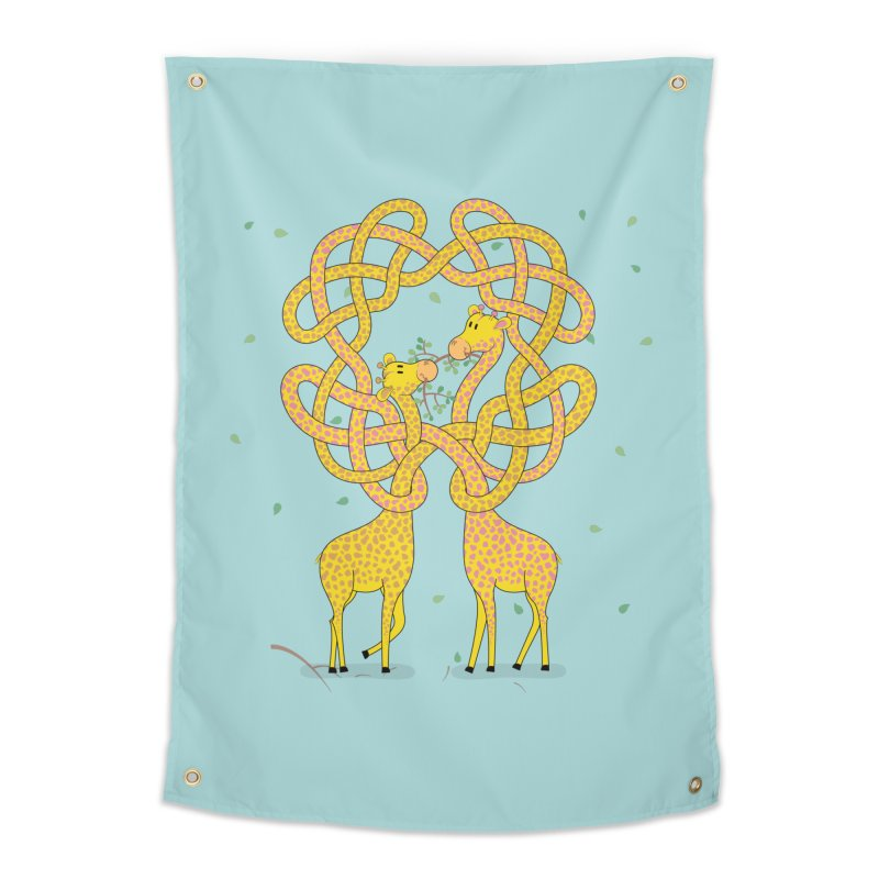 When Giraffes Fight Home Tapestry by Cumulo 7