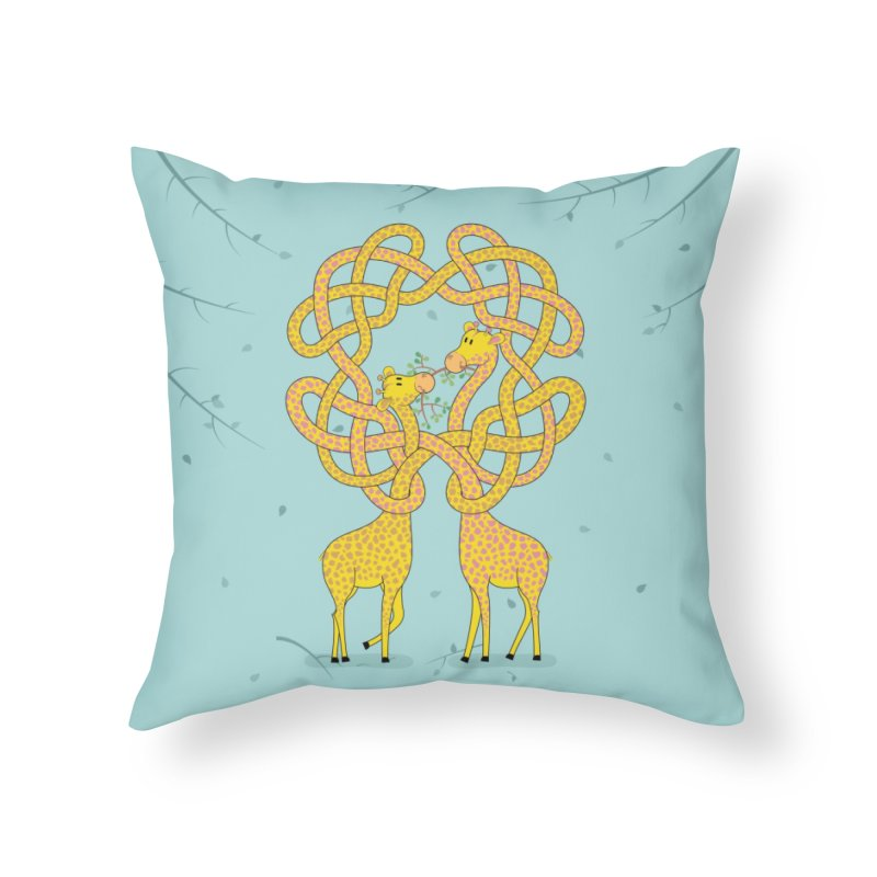 When Giraffes Fight Home Throw Pillow by cumulo7's Artist Shop