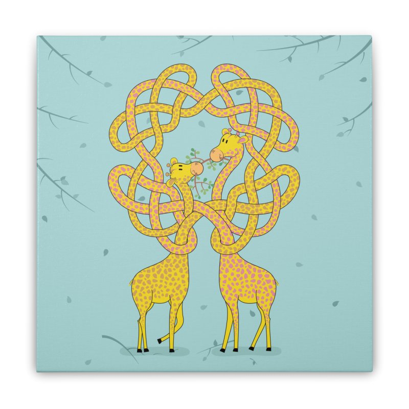 When Giraffes Fight Home Stretched Canvas by cumulo7's Artist Shop