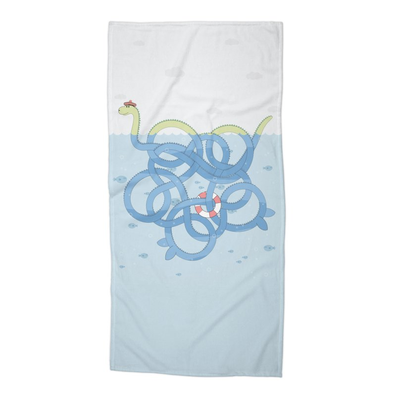 Tangled Nessi Accessories Beach Towel by cumulo7's Artist Shop