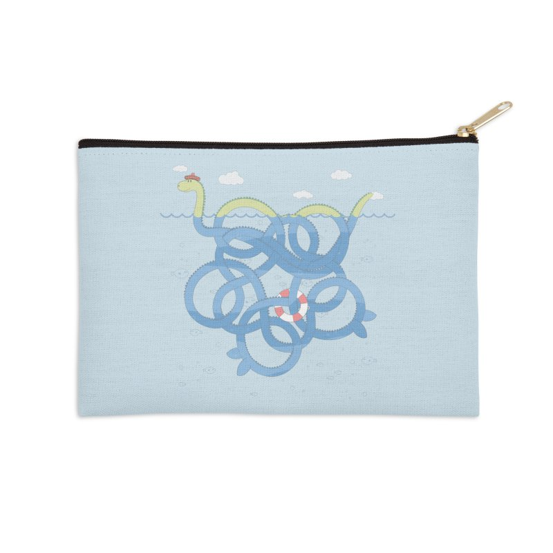 Tangled Nessi Accessories Zip Pouch by cumulo7's Artist Shop