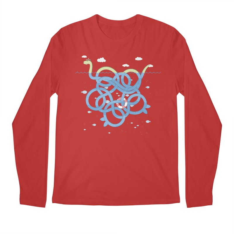 Tangled Nessi Men's Longsleeve T-Shirt by cumulo7's Artist Shop