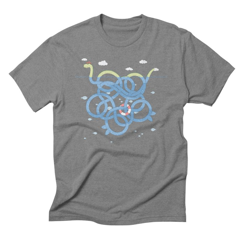 Tangled Nessi Men's Triblend T-Shirt by cumulo7's Artist Shop