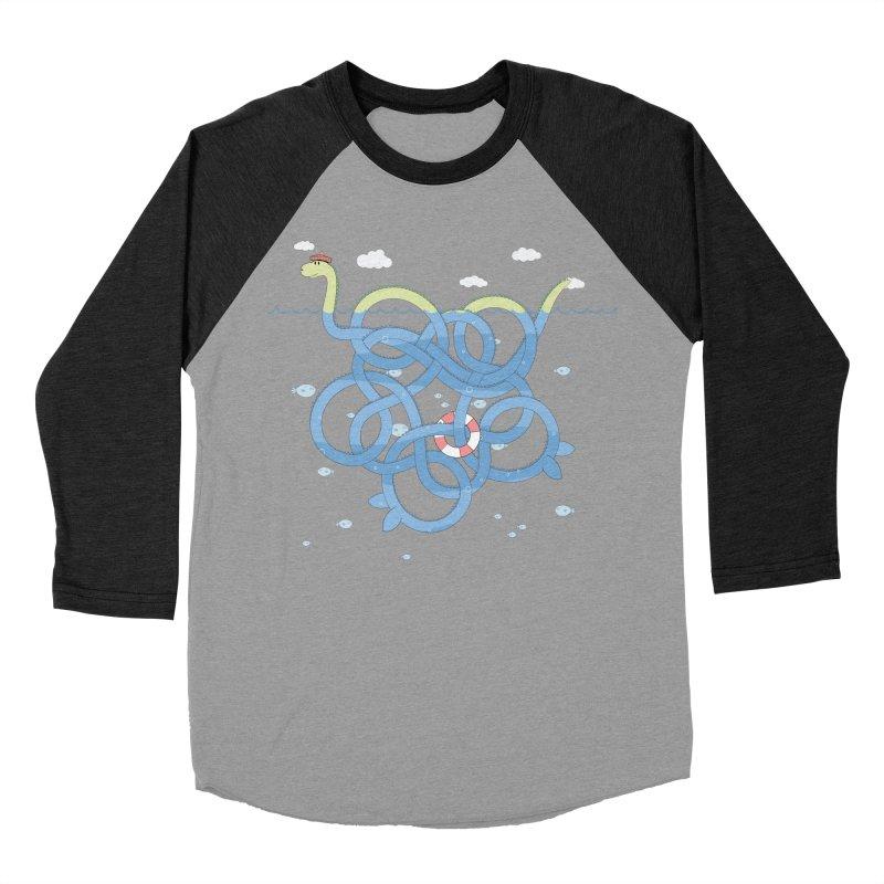 Tangled Nessi Women's Baseball Triblend T-Shirt by cumulo7's Artist Shop