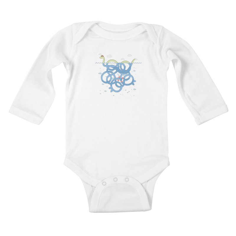 Tangled Nessi Kids Baby Longsleeve Bodysuit by cumulo7's Artist Shop