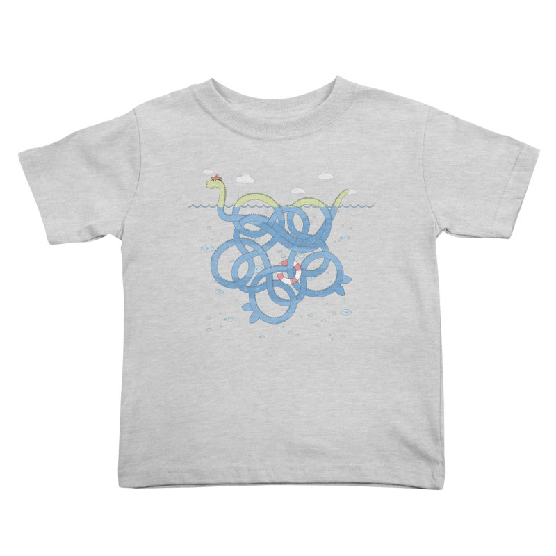 Tangled Nessi Kids Toddler T-Shirt by cumulo7's Artist Shop
