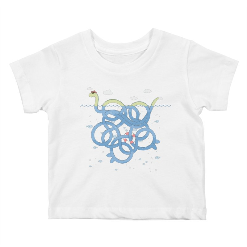 Tangled Nessi Kids Baby T-Shirt by cumulo7's Artist Shop