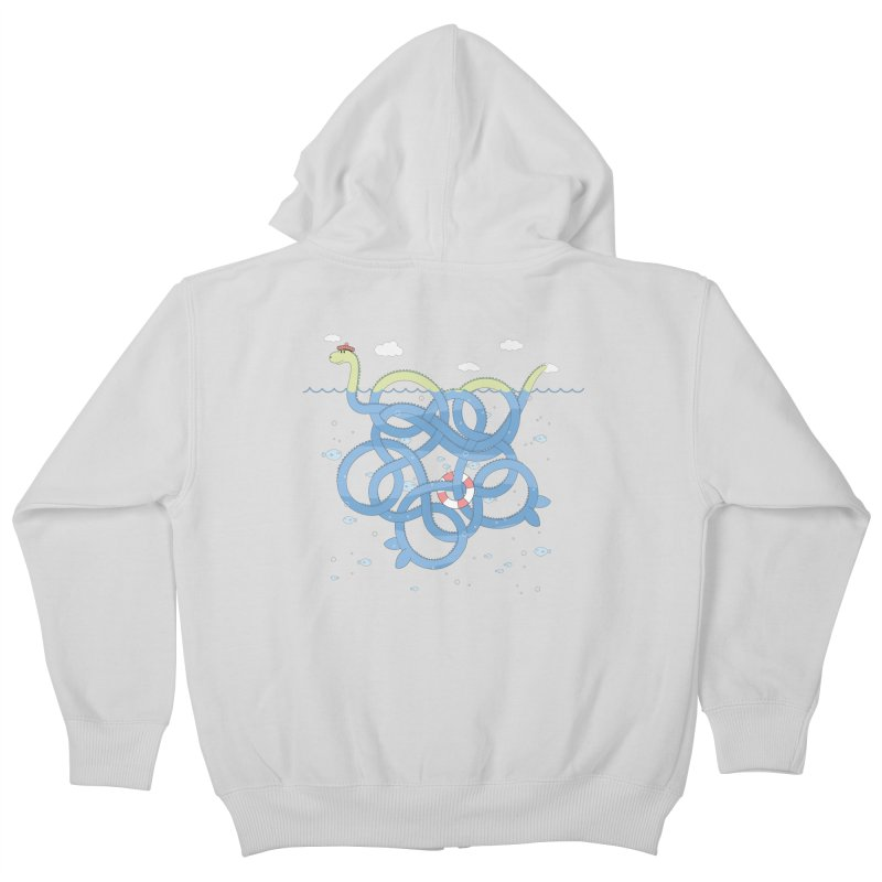 Tangled Nessi Kids Zip-Up Hoody by cumulo7's Artist Shop