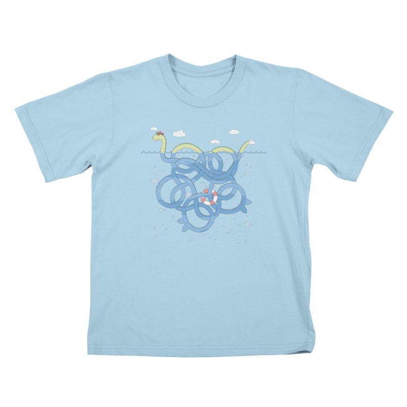 Tangled Nessi Kids T-shirt by cumulo7's Artist Shop