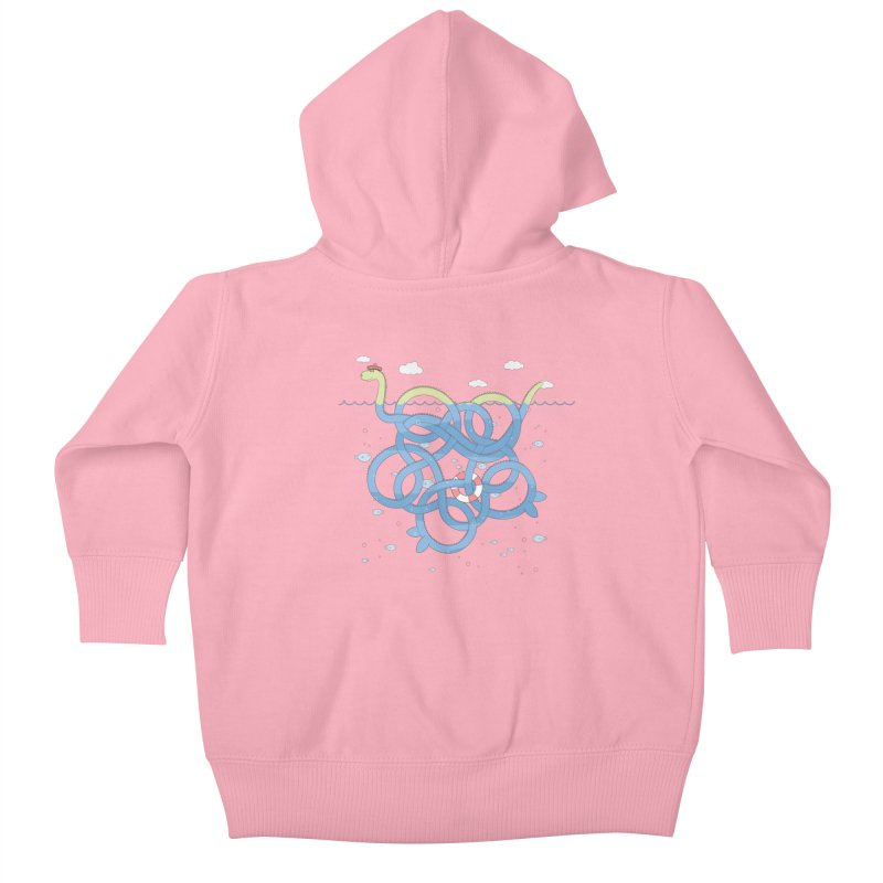 Tangled Nessi Kids Baby Zip-Up Hoody by cumulo7's Artist Shop