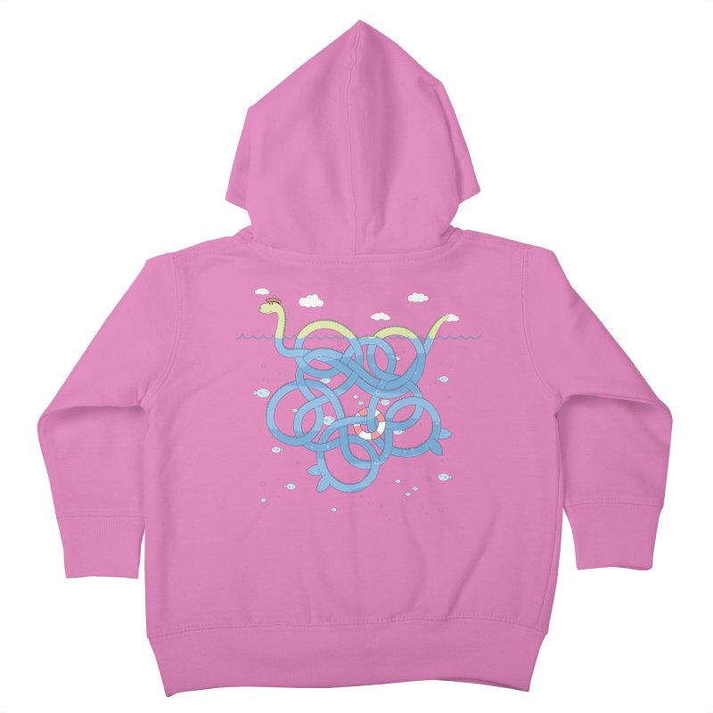 Tangled Nessi Kids Toddler Zip-Up Hoody by cumulo7's Artist Shop