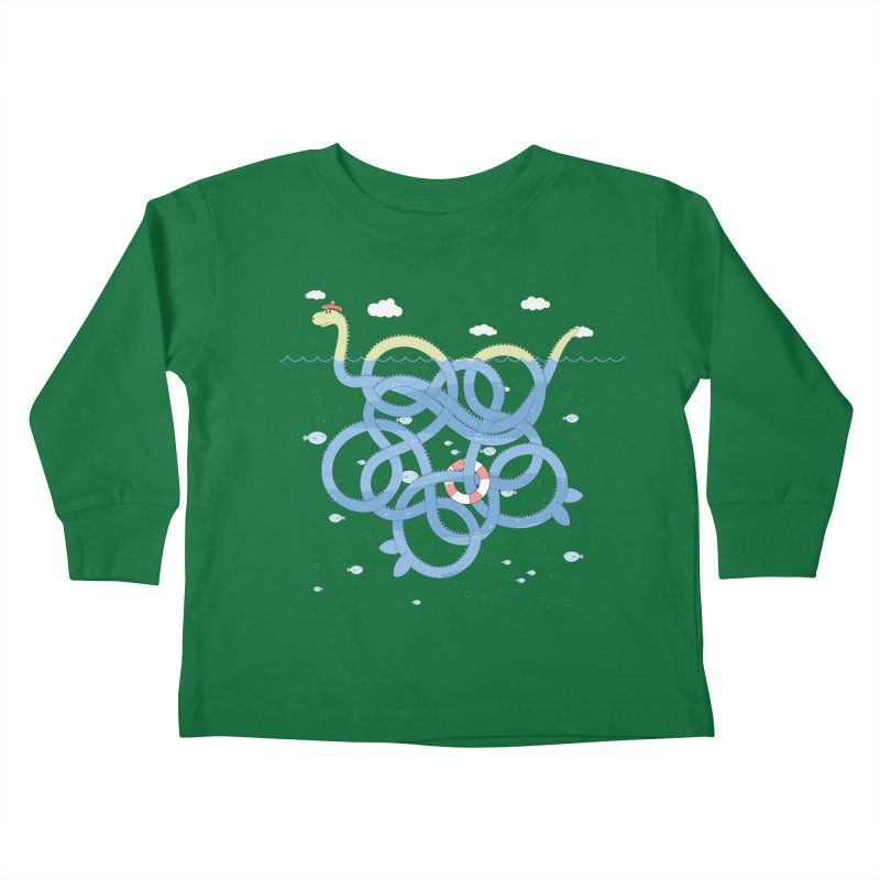 Tangled Nessi Kids Toddler Longsleeve T-Shirt by cumulo7's Artist Shop