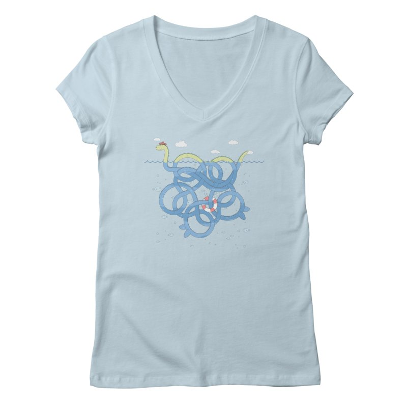 Tangled Nessi Women's V-Neck by cumulo7's Artist Shop