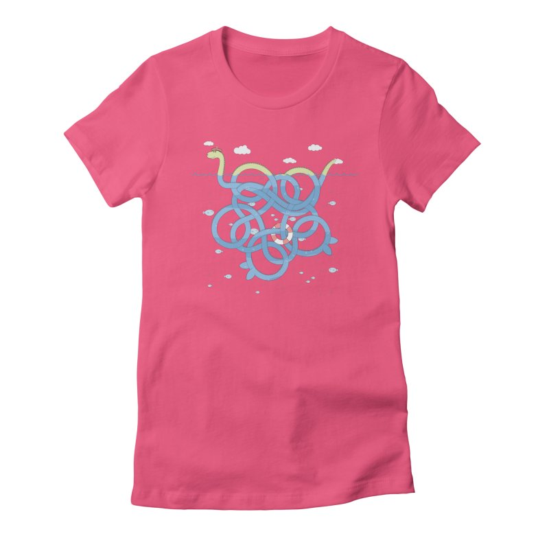 Tangled Nessi Women's Fitted T-Shirt by cumulo7's Artist Shop