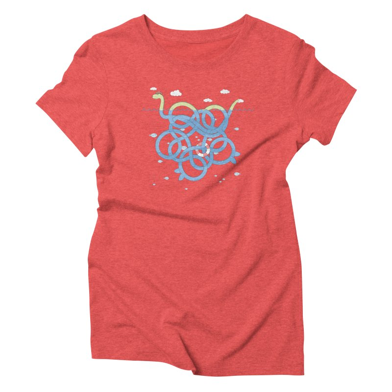 Tangled Nessi Women's Triblend T-Shirt by cumulo7's Artist Shop