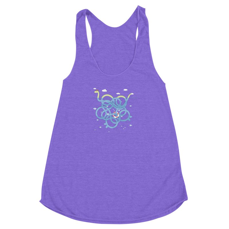 Tangled Nessi Women's Racerback Triblend Tank by cumulo7's Artist Shop