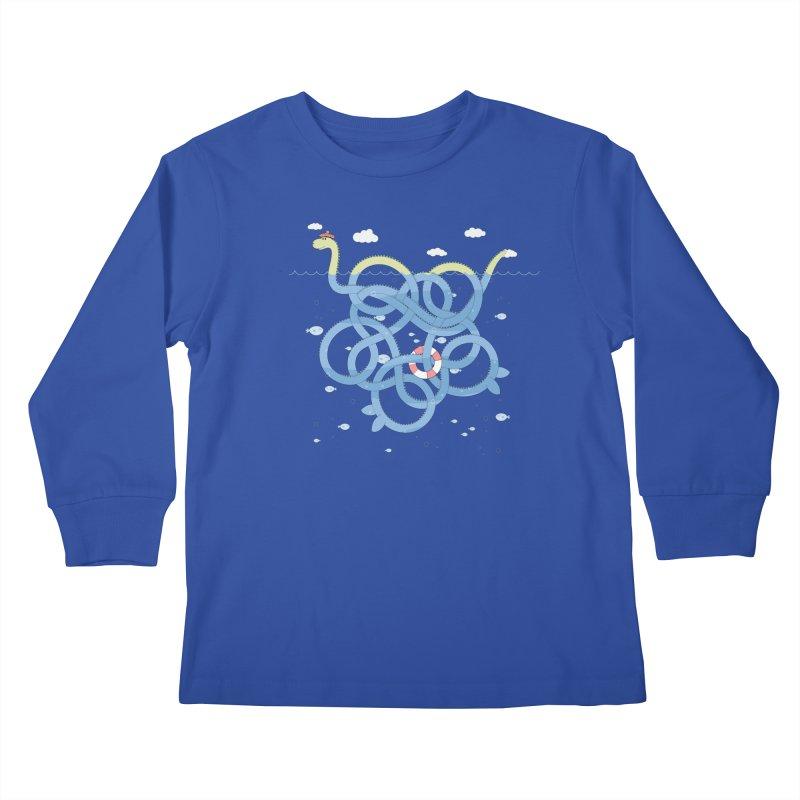 Tangled Nessi Kids Longsleeve T-Shirt by cumulo7's Artist Shop