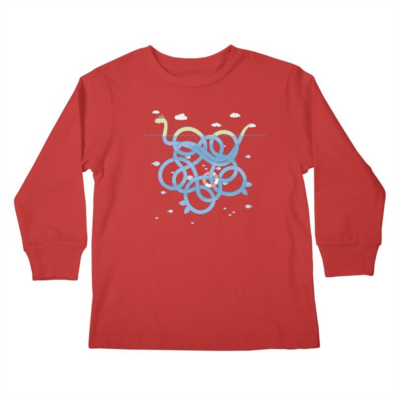 Tangled Nessi Kids Longsleeve T-Shirt by cumulo7's Artist Shop