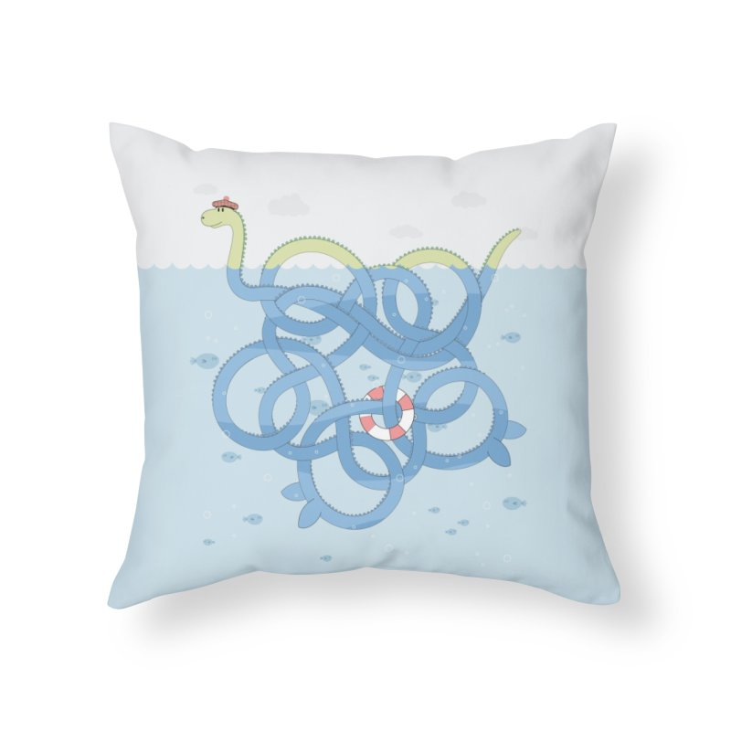 Tangled Nessi Home Throw Pillow by cumulo7's Artist Shop