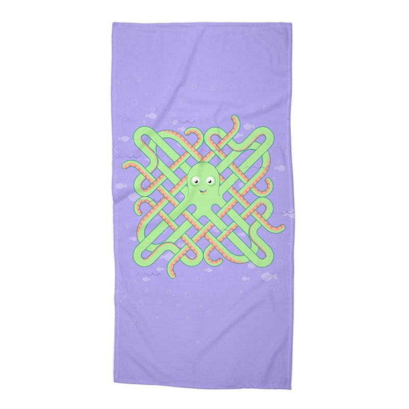 Octopus Accessories Beach Towel by cumulo7's Artist Shop
