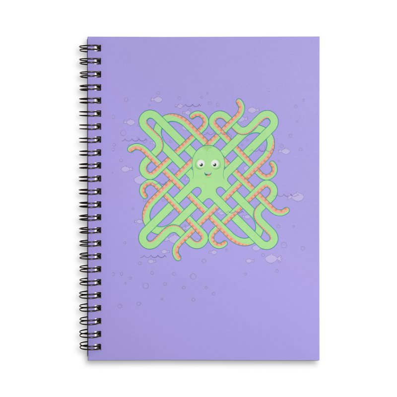 Octopus Accessories Lined Spiral Notebook by Cumulo 7