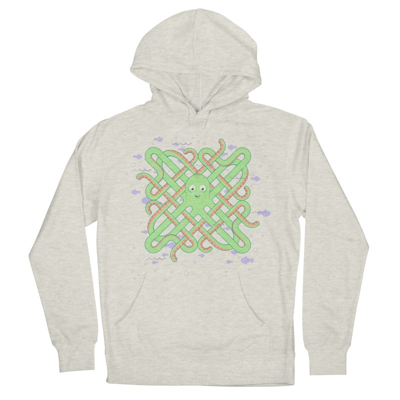 Octopus Men's French Terry Pullover Hoody by cumulo7's Artist Shop