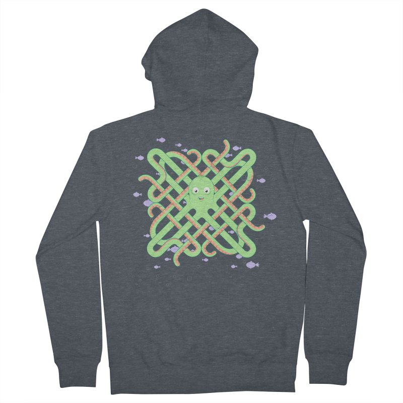 Octopus Women's French Terry Zip-Up Hoody by cumulo7's Artist Shop