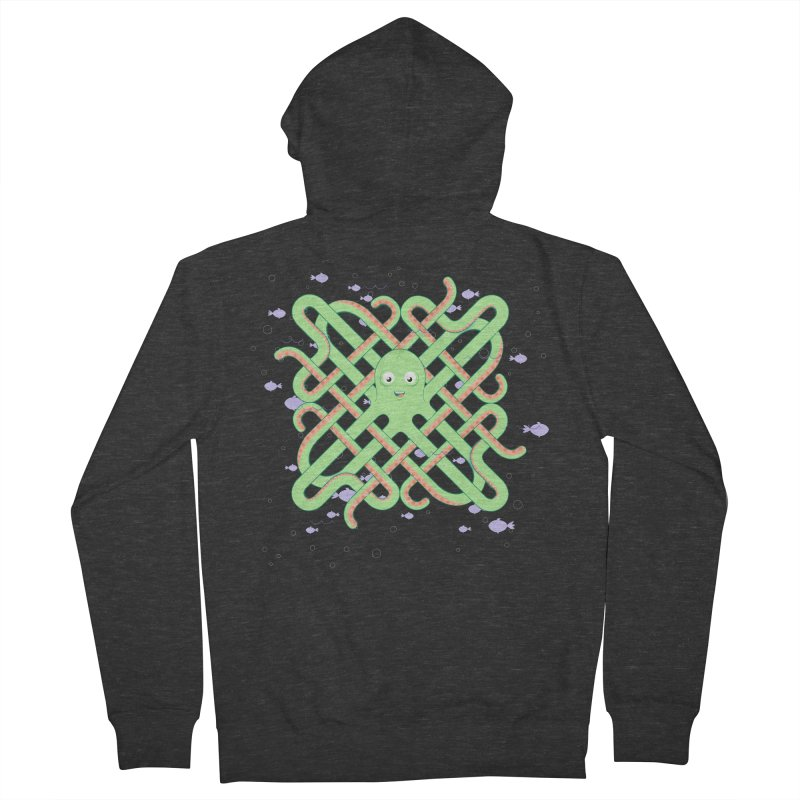 Octopus Men's French Terry Zip-Up Hoody by cumulo7's Artist Shop