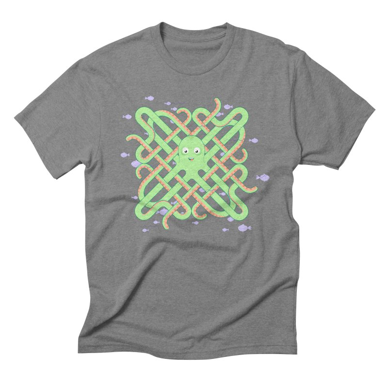 Octopus Men's Triblend T-Shirt by Cumulo 7