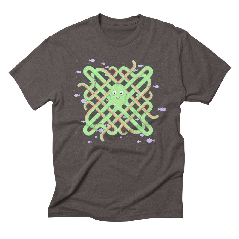Octopus Men's Triblend T-Shirt by cumulo7's Artist Shop