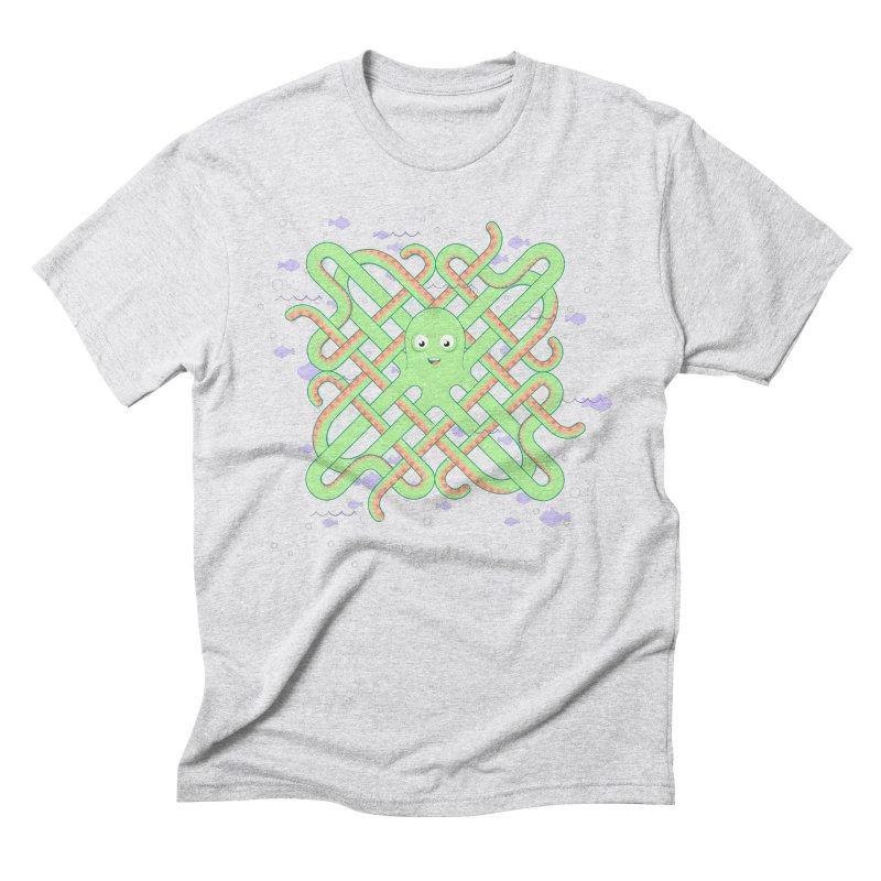 Octopus Men's Triblend T-Shirt by Cumulo 7