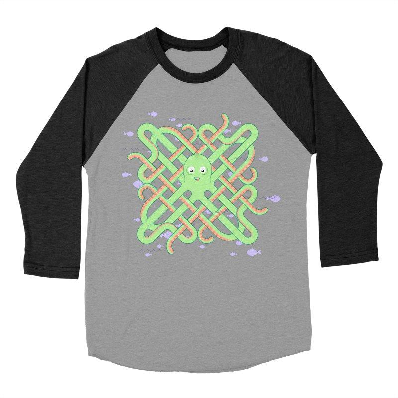 Octopus Men's Baseball Triblend Longsleeve T-Shirt by Cumulo 7