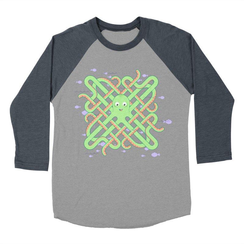 Octopus Men's Baseball Triblend T-Shirt by cumulo7's Artist Shop