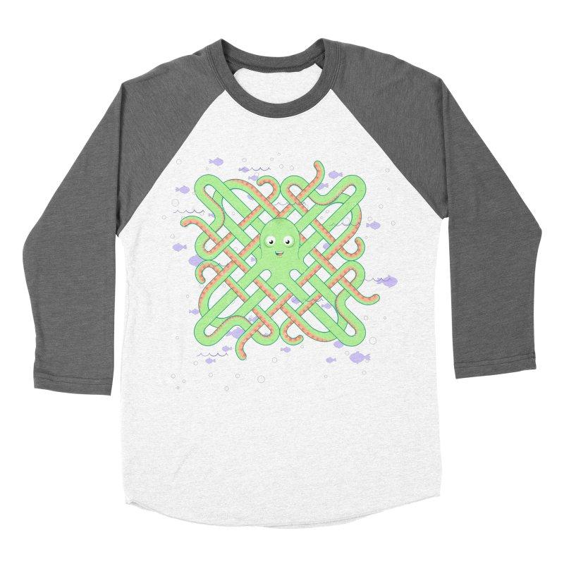 Octopus Men's Baseball Triblend Longsleeve T-Shirt by cumulo7's Artist Shop