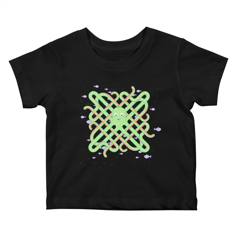 Octopus Kids Baby T-Shirt by Cumulo 7