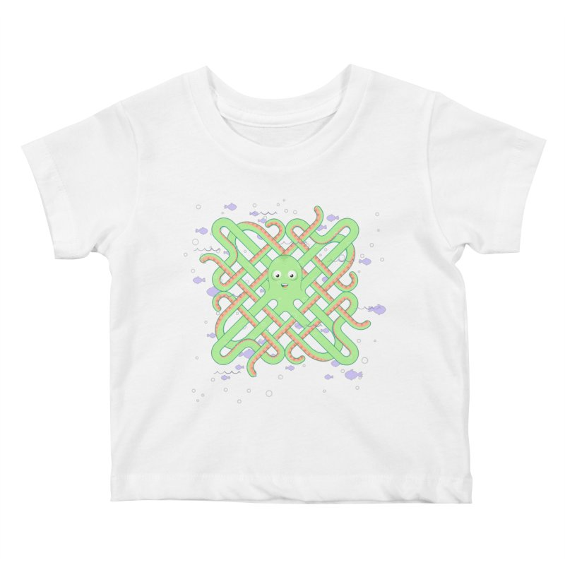 Octopus Kids Baby T-Shirt by cumulo7's Artist Shop
