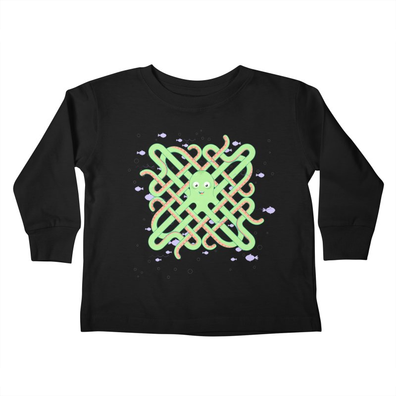 Octopus Kids Toddler Longsleeve T-Shirt by cumulo7's Artist Shop