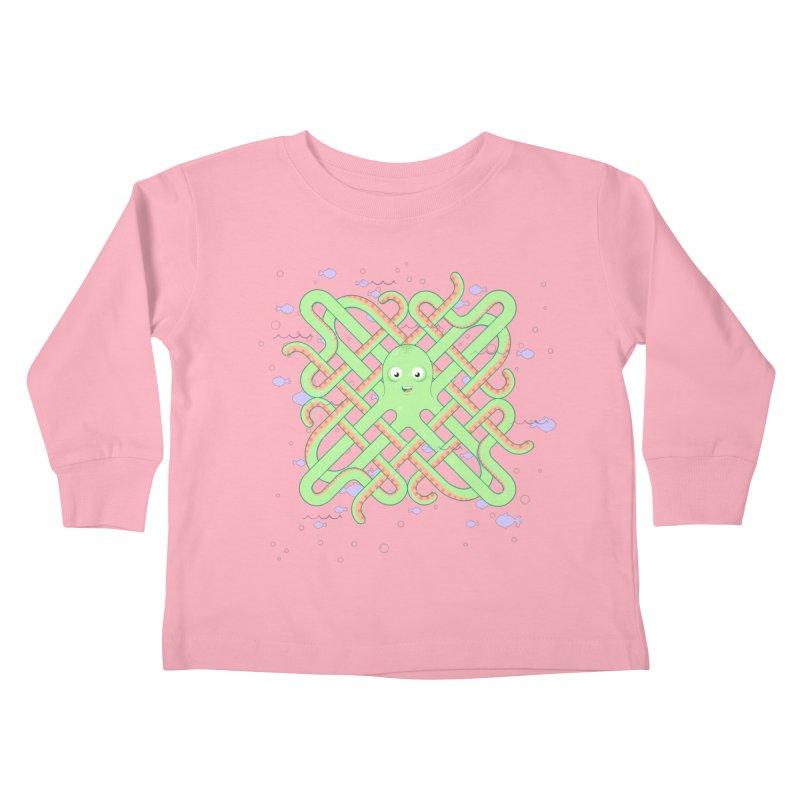 Octopus Kids Toddler Longsleeve T-Shirt by cumulo7's Artist Shop