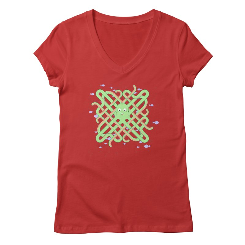 Octopus Women's Regular V-Neck by Cumulo 7