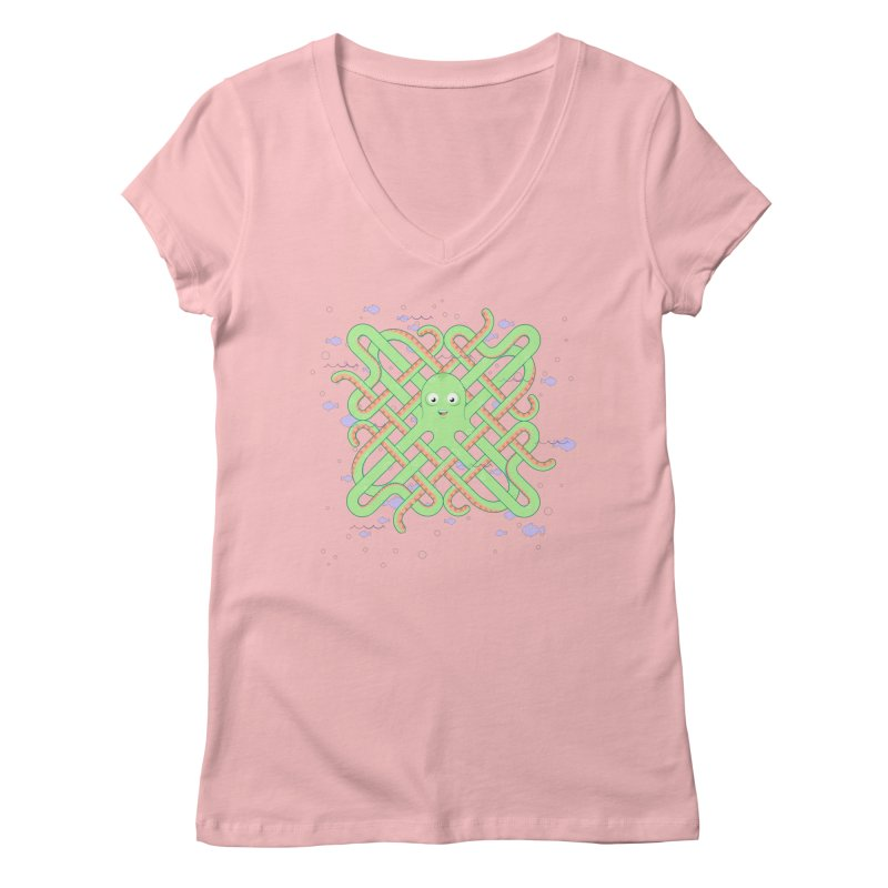 Octopus Women's V-Neck by cumulo7's Artist Shop