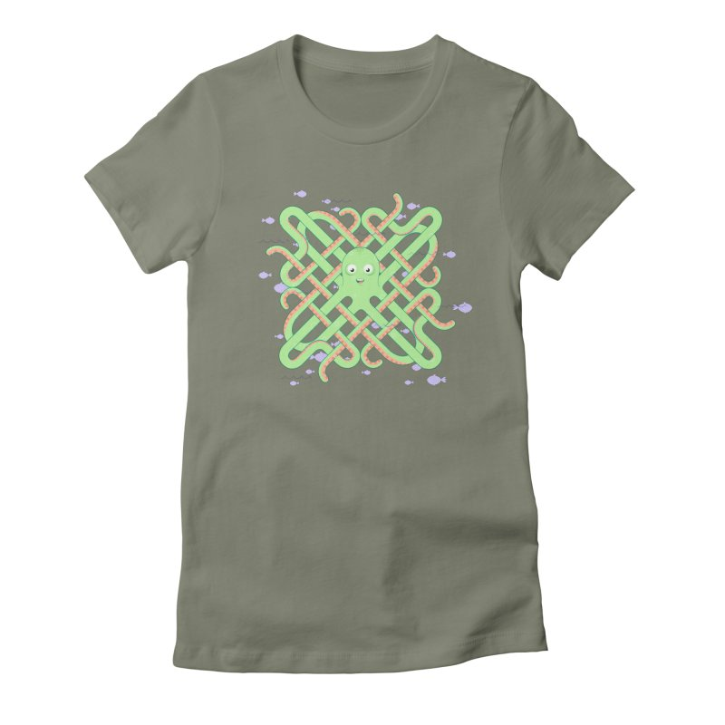 Octopus Women's Fitted T-Shirt by cumulo7's Artist Shop