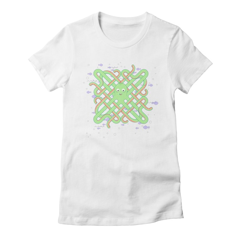 Octopus Women's Fitted T-Shirt by Cumulo 7