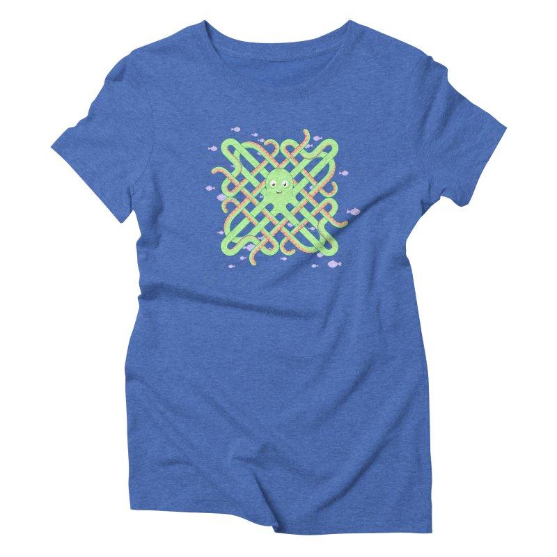 Octopus Women's Triblend T-shirt by cumulo7's Artist Shop