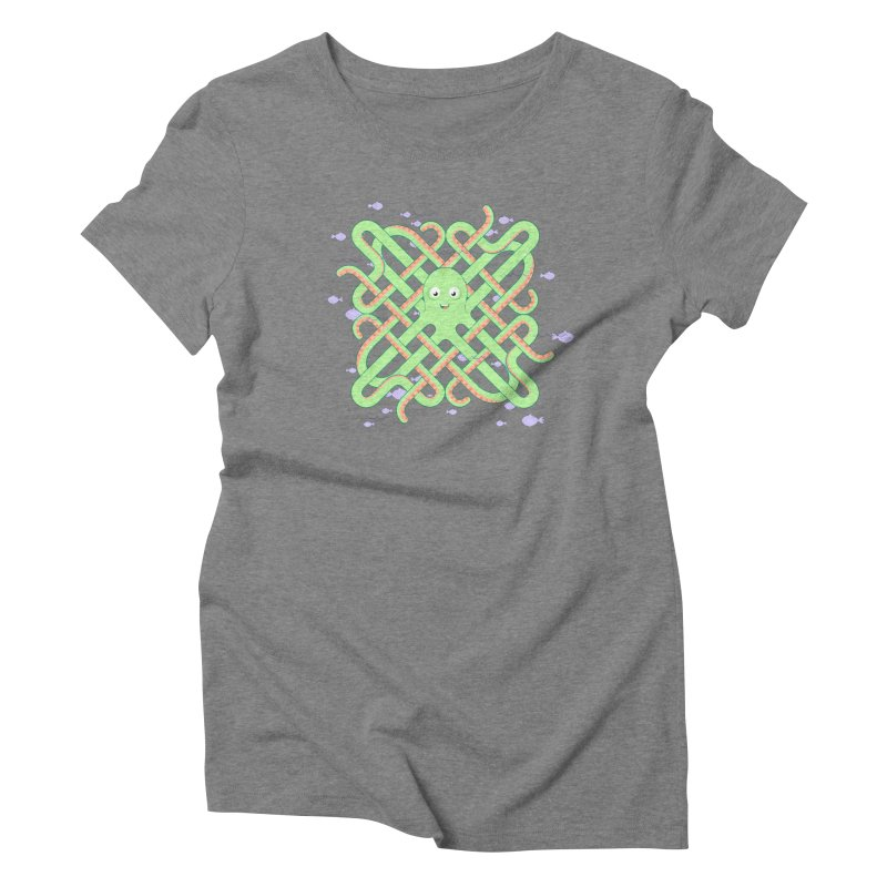 Octopus Women's Triblend T-Shirt by Cumulo 7