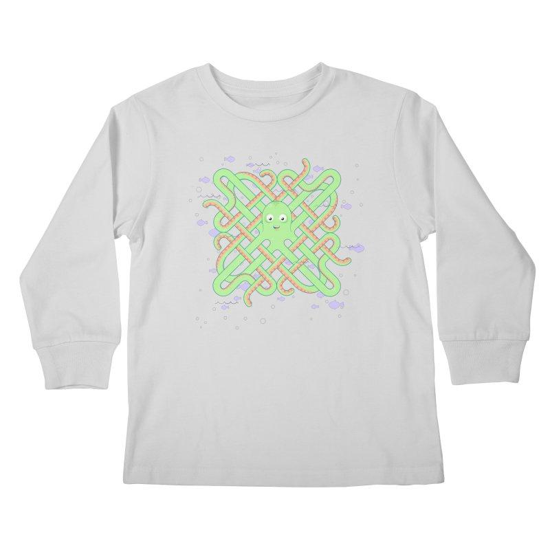 Octopus Kids Longsleeve T-Shirt by Cumulo 7
